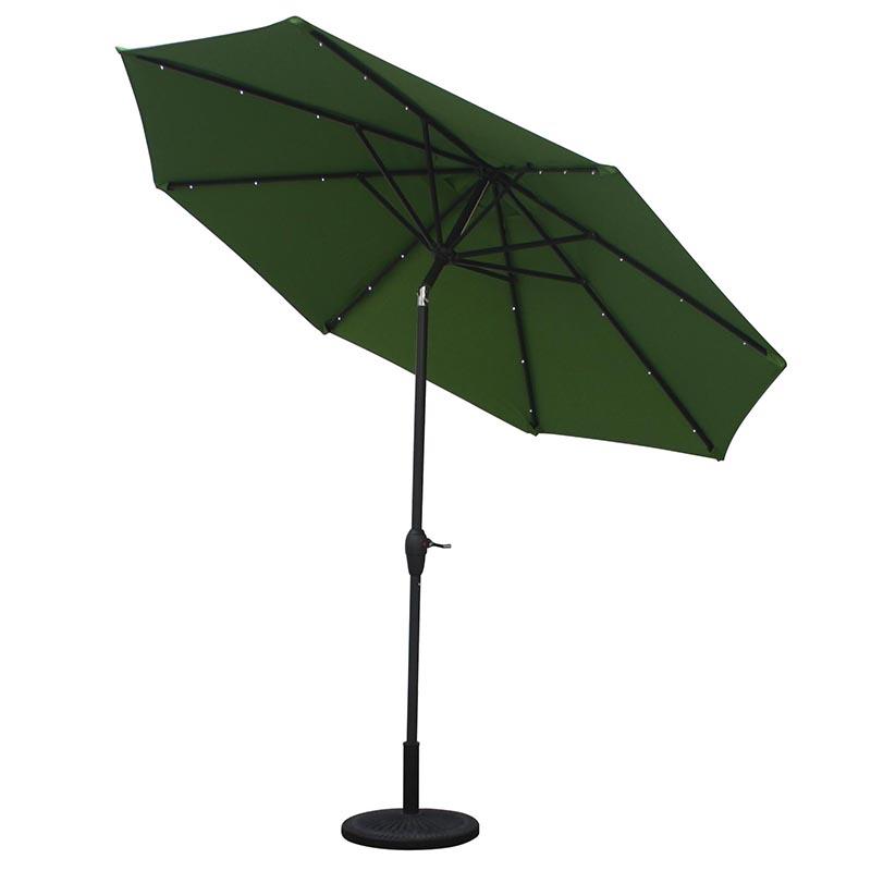 MYA-008-E Solar Straight Hand-cranked Particle Light Umbrella