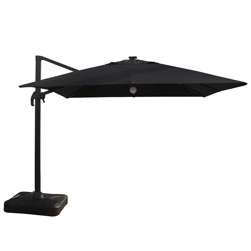 MYB-004-F Solar Mid-Roman Light Bar Umbrella