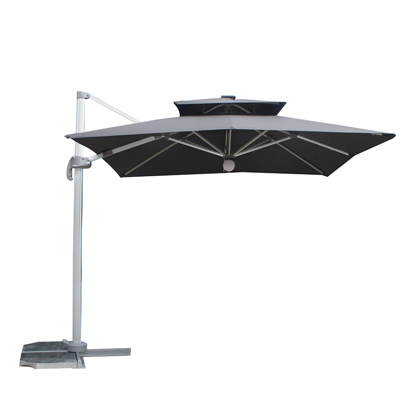 MYB-003-L Solar Double Top Small Roman Particle Light Umbrella